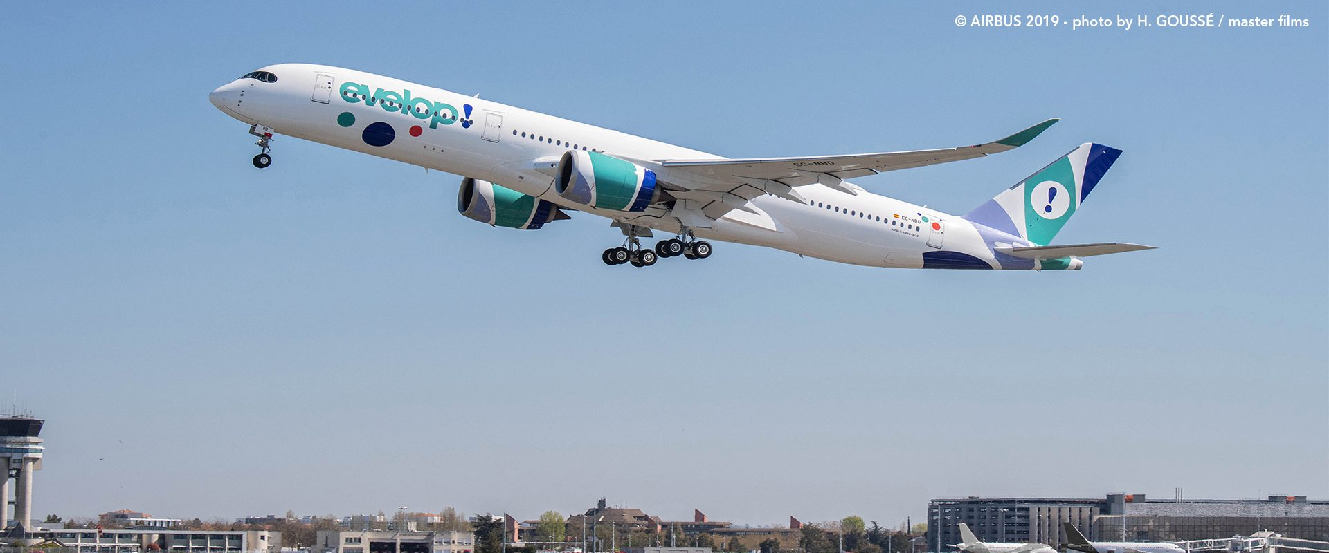 A350 Evelop! volando