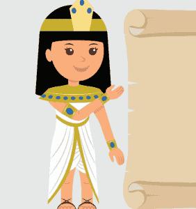 La escuela en el antiguo Egipto; escribimos en Papiro