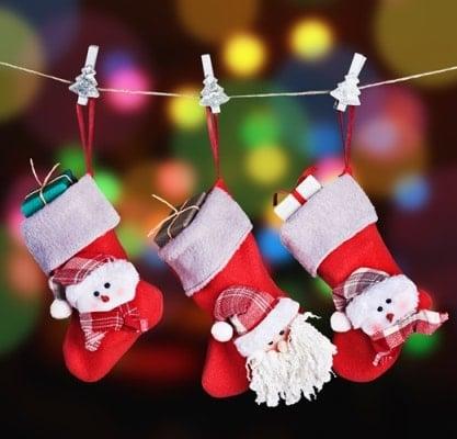 taller calcetines navideños