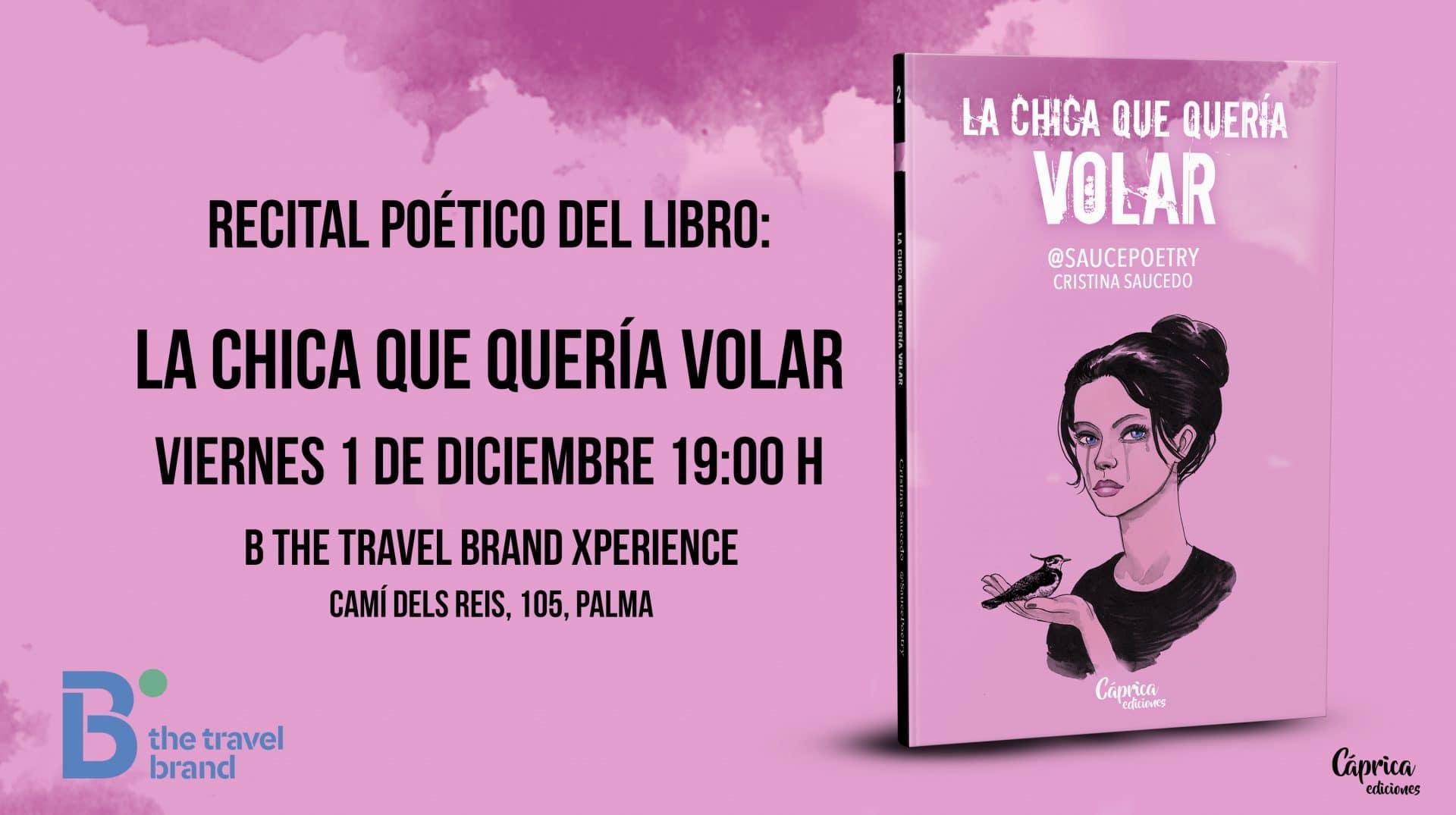 """Presentación y firma del libro """"La chica que quería volar"""" de Cristina Saucedo"""