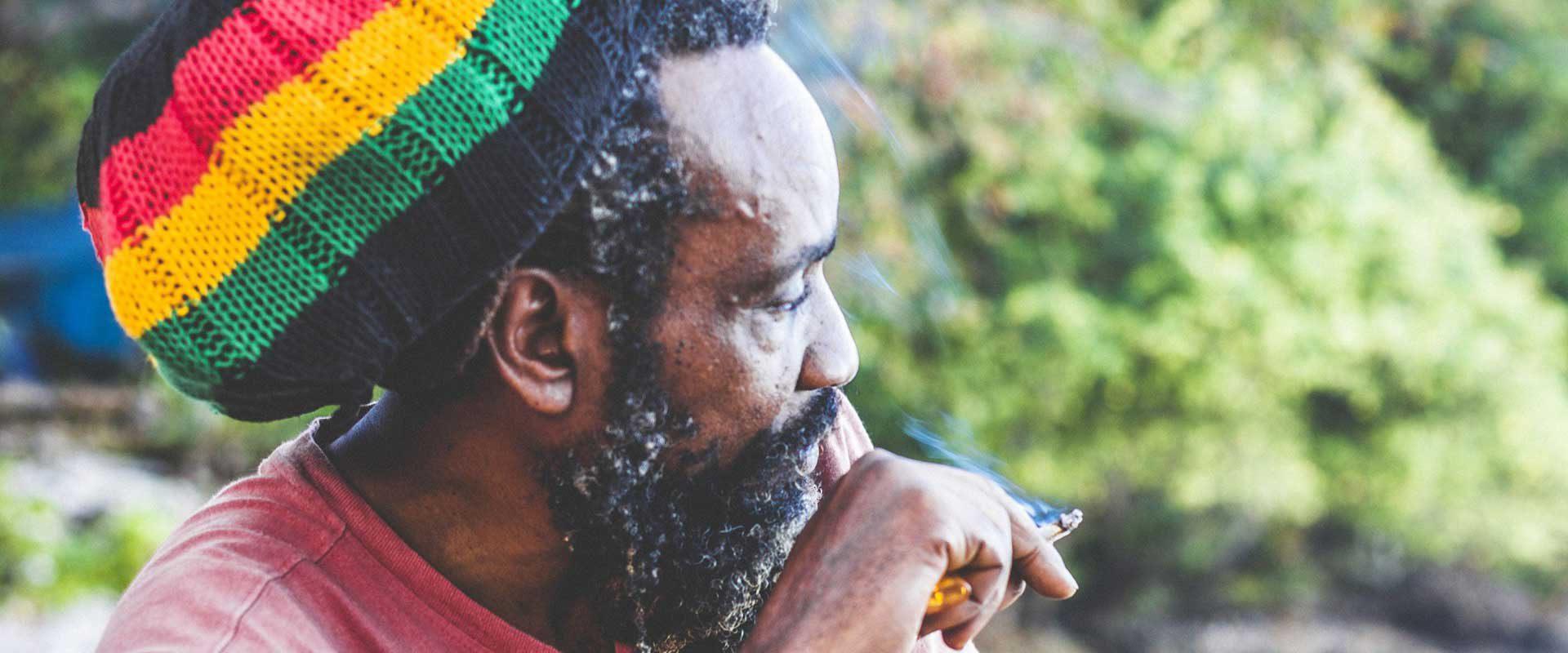 Jamaica, rastaman retrato.