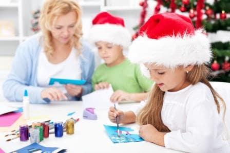 Creamos creativas postales de navidad. Aprenderemos a hacer nuestras propias postales de navidad para luego enviárselas a Papá Noel